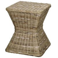 Keoni Square Rattan Accent Stool Table