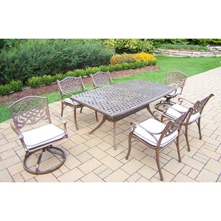 Casselton 7-Piece Outdoor Dining Set with Off-White Cushions