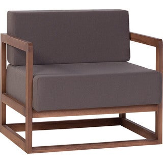 Voelkel Mio Collection Brown Wood Lounge Chair