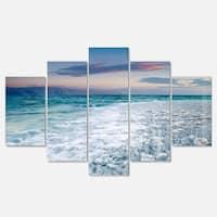 Designart 'Beautiful Sunrise at Dead Sea' Modern Seashore Metal Wall Art