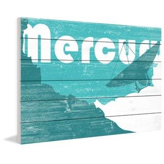 Marmont Hill - Handmade Mercury Painting Print on White Wood