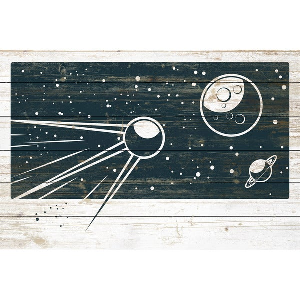 Marmont Hill - Handmade Sputniks Orbit Painting Print on White Wood