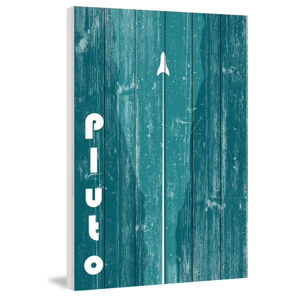 Marmont Hill - Handmade Pluto Painting Print on White Wood