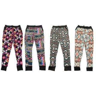 Riviera Kids Printed Spandex Blend Joggers (Pack of 4)