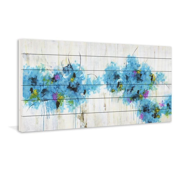 Marmont Hill - Handmade Center Piece II-3 Painting Print on White Wood