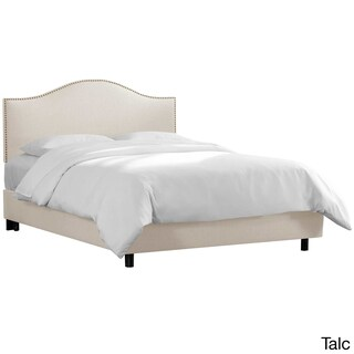 Custom Nailhead Trim Linen Upholstered Bed- Skyline Furniture (More options available)
