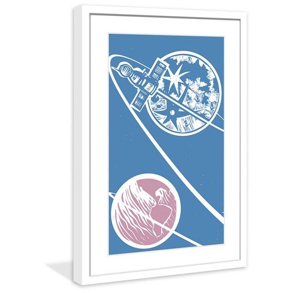 Marmont Hill - 'Satellite Orbit' Framed Painting Print