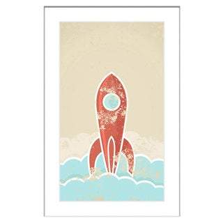 Marmont Hill - 'Blast Off' Framed Painting Print