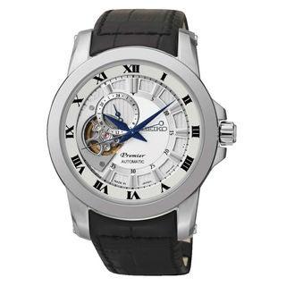 Seiko Men's SSA213J2 Premier Silver Dial Watch