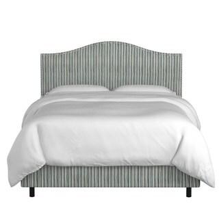 Skyline Furniture Custom Nailhead Trim Print Fabric Upholstered Bed