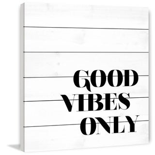 Marmont Hill - 'Good Vibes Only' by Dantell Painting Print on White Wood