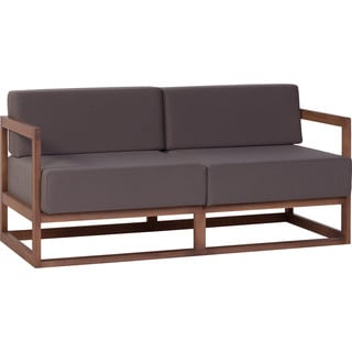 Voelkel Mio Collection Mid-century Modern Brown Loveseat