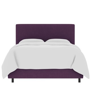 Skyline Furniture Custom Velvet Upholstered Bed