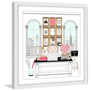 Marmont Hill - 'Workspace' by Loretta So Framed Painting Print