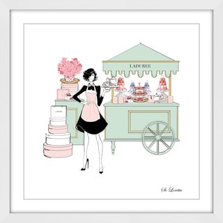 Marmont Hill - 'Macaron Cart' by Loretta So Framed Painting Print