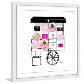 Marmont Hill - 'Black Cart' by Loretta So Framed Painting Print
