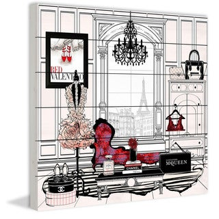 Marmont Hill - 'Paris New' by Loretta So Painting Print on White Wood (4 options available)