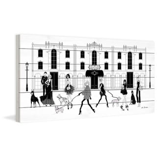 Marmont Hill - Handmade Dog Hotel Painting Print on White Wood
