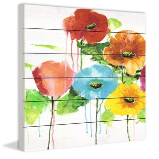 Marmont Hill - Handmade Cheery Bloomers II Painting Print on White Wood