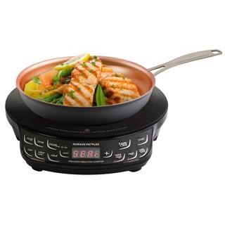 NuWave Compact Induction Cooktop w/ 9' Hard Anodized Fry Pan & Storage Case
