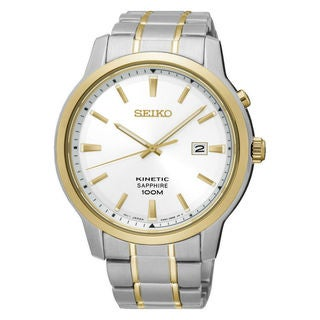 Seiko Kinetic SKA742P1 Men's White Dial Watch