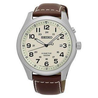 Seiko Kinetic SKA723P1 Men's Beige Dial Watch