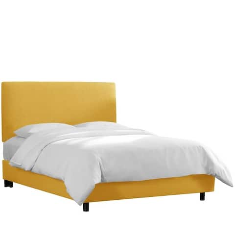 Skyline Furniture Custom Linen Upholstered Bed