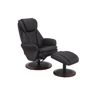 Comfort Chair Collection Java (Brown) Leather Swivel, Recliner with Ottoman