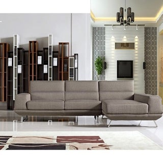 Bullock Taupe Fabric Right-Facing Sectional Sofa