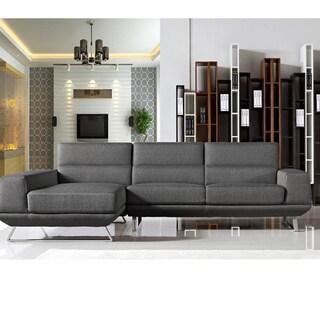 Bullock Dark Grey Fabric Left-Facing Sectional Sofa