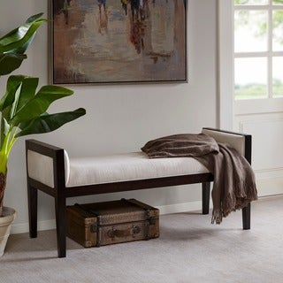 Madison Park Signature Thomas Linen Bench Ottoman