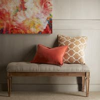 Madison Park Signature Victoria Beige/ Light Natural Bench Ottoman