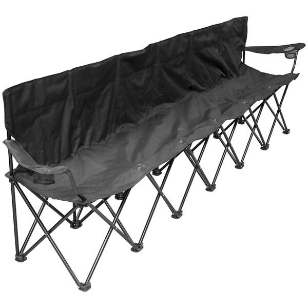6 Person Folding Chair Black