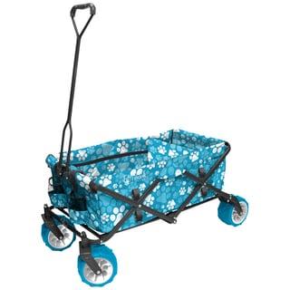 Fold Wagon All Terrain Blue Paw Print
