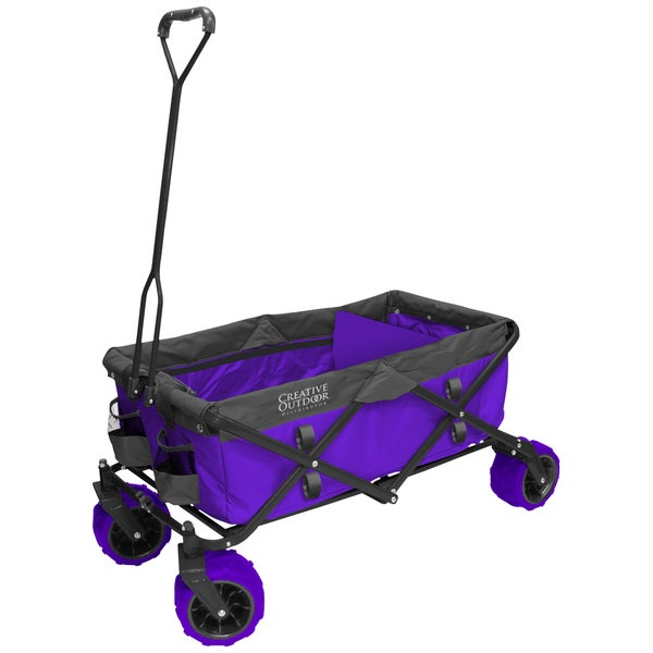 Fold Wagon All Terrain Purple Grey