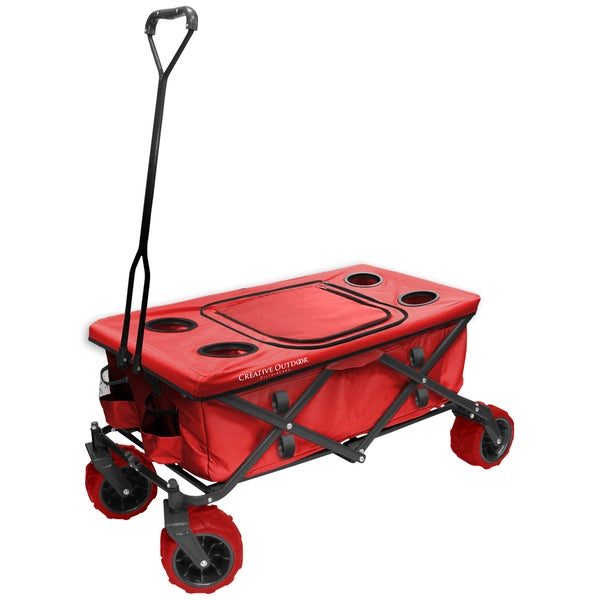 Fold Wagon All Terrain Table Red