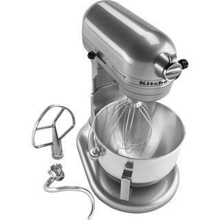 kitchenaid mixer metallic chrome. kitchenaid rkg25h0xmc metallic chrome 5-quart bowl-lift pro stand mixer (refurbished) kitchenaid