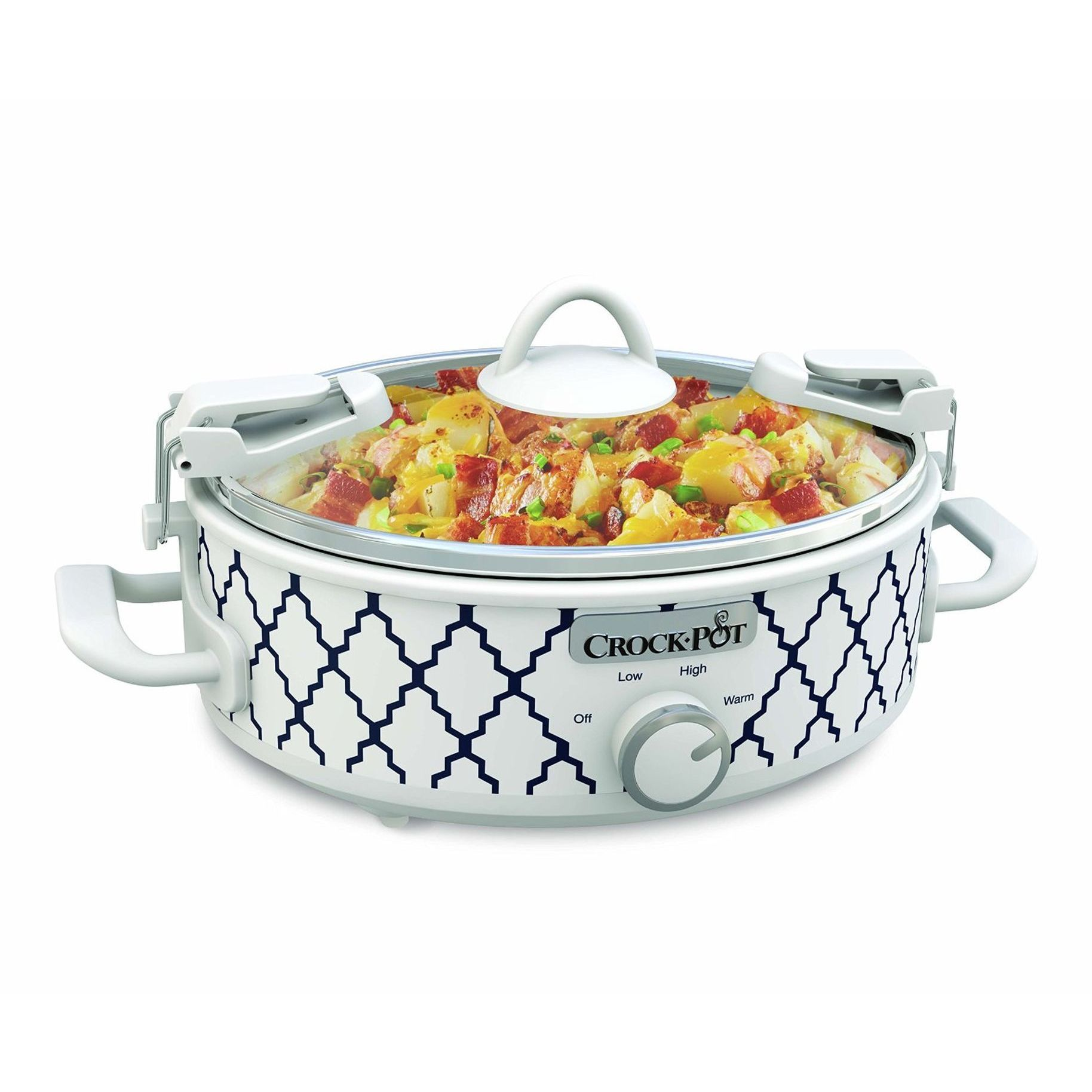Jarden Crock-Pot 2.5 Quart Mini Casserole Slow Cooker, White