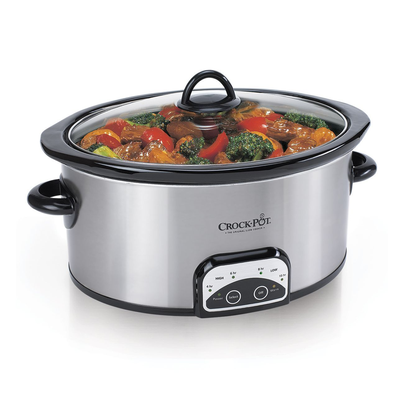 Jarden Crock-Pot 4-Quart Digital Slow Cooker, Silver