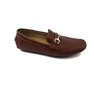 Mecca Men's Brown Slip-on Loafers Driver Shoes