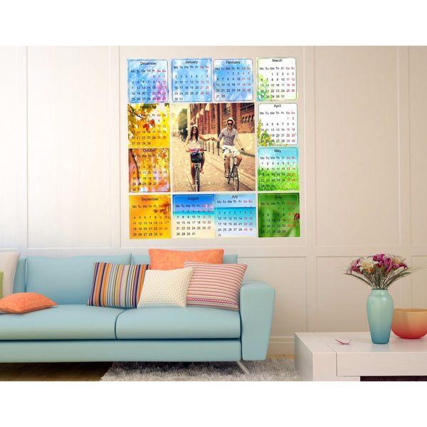 Full color decal Calendar for 2017 sticker, Calendar Decal, wall art ...