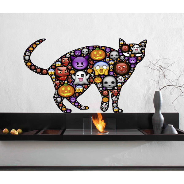 Full color decal Cat funny faces sticker, Cat funny Decal, wall art decal Sticker Decall size 48x65