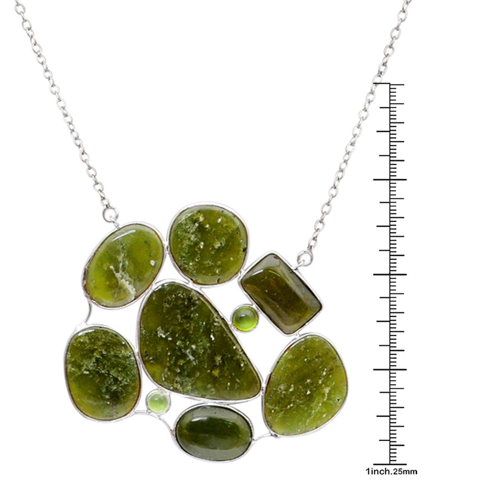 1 Ct Green Sapphire Round Bezel Pendant .925 Sterling Silver