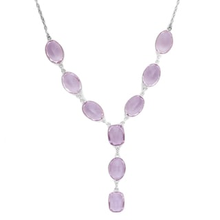Orchid Jewelry 925 Sterling Silver 97 1/2 Carat Amethyst Statement Necklace