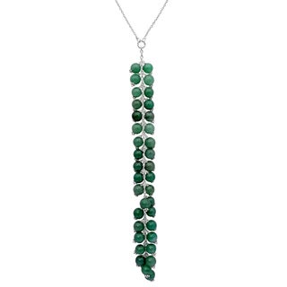 Orchid Jewelry 925 Sterling Silver 148 Carat Green Aventurine Necklace