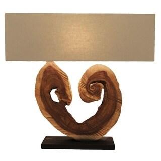 210550 Wood Table Lamp