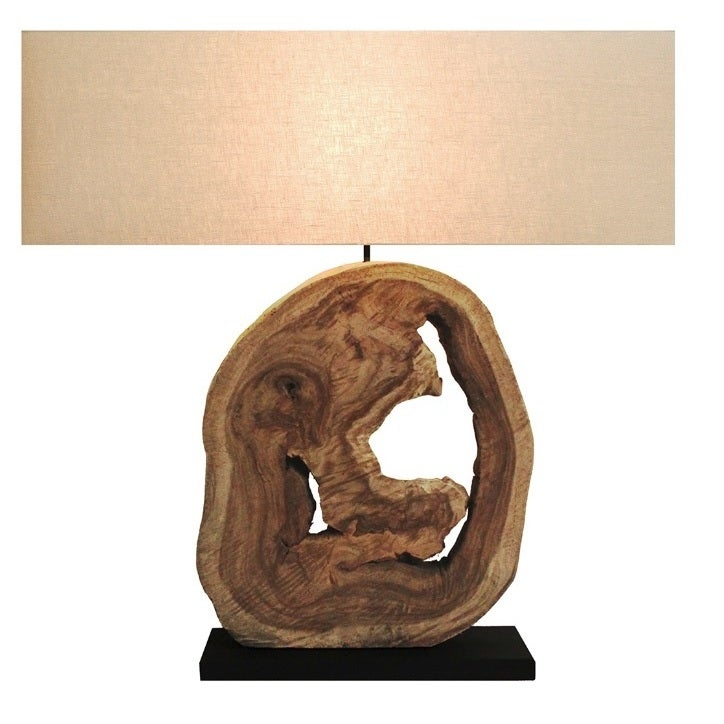 Bellini Modern Living Nature'own Natural Wood Table Lamp ...