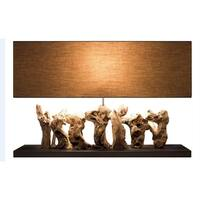 Aspen Wood Rectangular Table Lamp