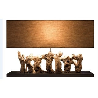 Aspen Wood Rectangular Table Lamp
