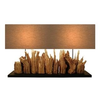 Aspen Driftwood Rectangular Table Lamp